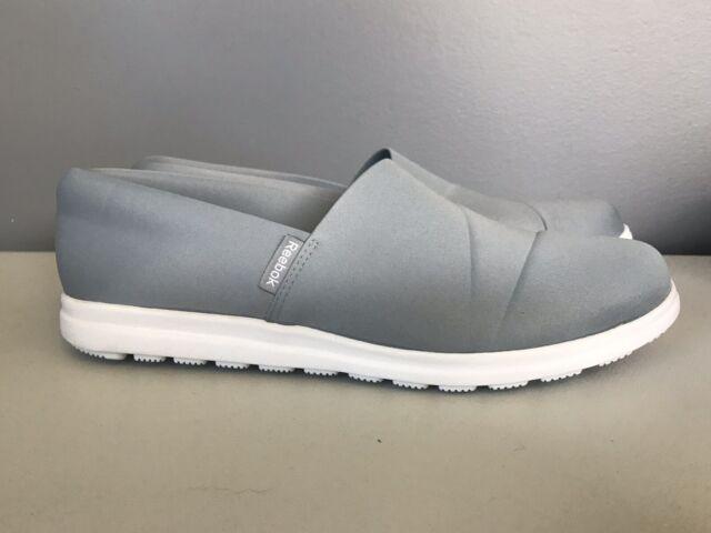 nouveaux prix plus bas professionnel de la vente à chaud hot-vente dernier Reebok Skyscape Harmony Gray Memory Tech 365 Slip On Shoes Womens 11