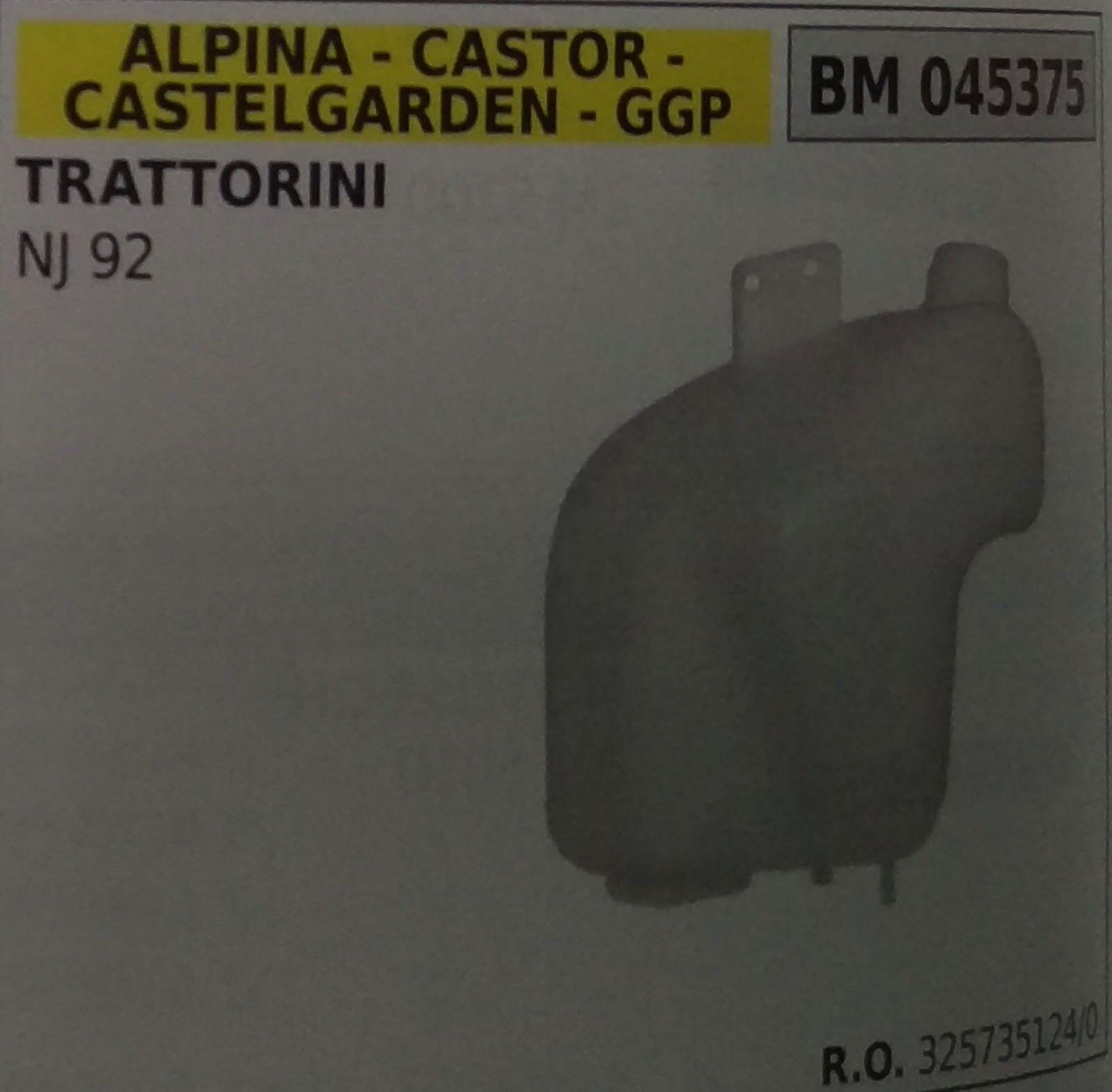 Tanque Completo Tractor Podadora Alpina Castor Castelgarden Stiga Ggp NJ92