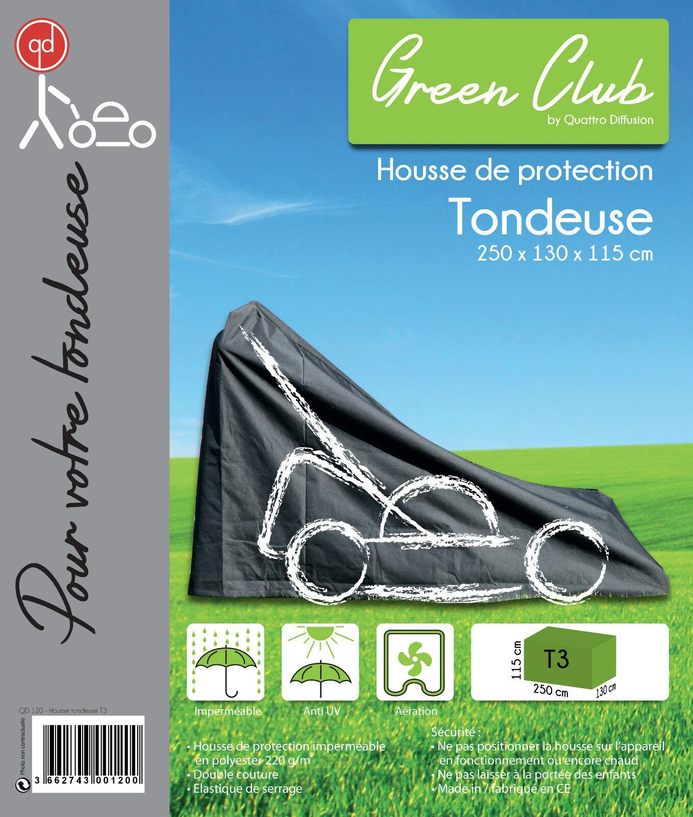Housse De Protection pour tondeuse Haute Qualité polyester 250x130x115cm