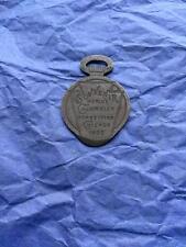 World Columbian Exposition Chicago Watch Fob  Expo Souvenir 1893 Keystone Watch