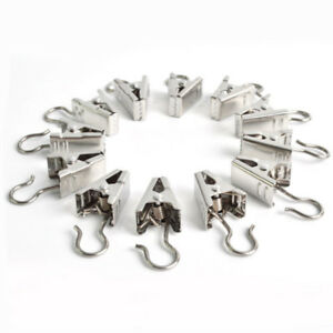 10-30x stainless steel small curtain hanging bulldog clips clamps pegs free post