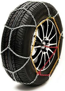 Sumex-Husky-Winter-Classic-Alloy-Steel-Snow-Chains-for-17-034-Car-Wheel-Tyre-039-s-PAIR