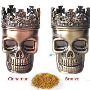 Metal-Skull-Magnetic-Grinder-Tabacco-Spice-Crusher-Shark-Teeth-45mm-1pc-Herb-GL