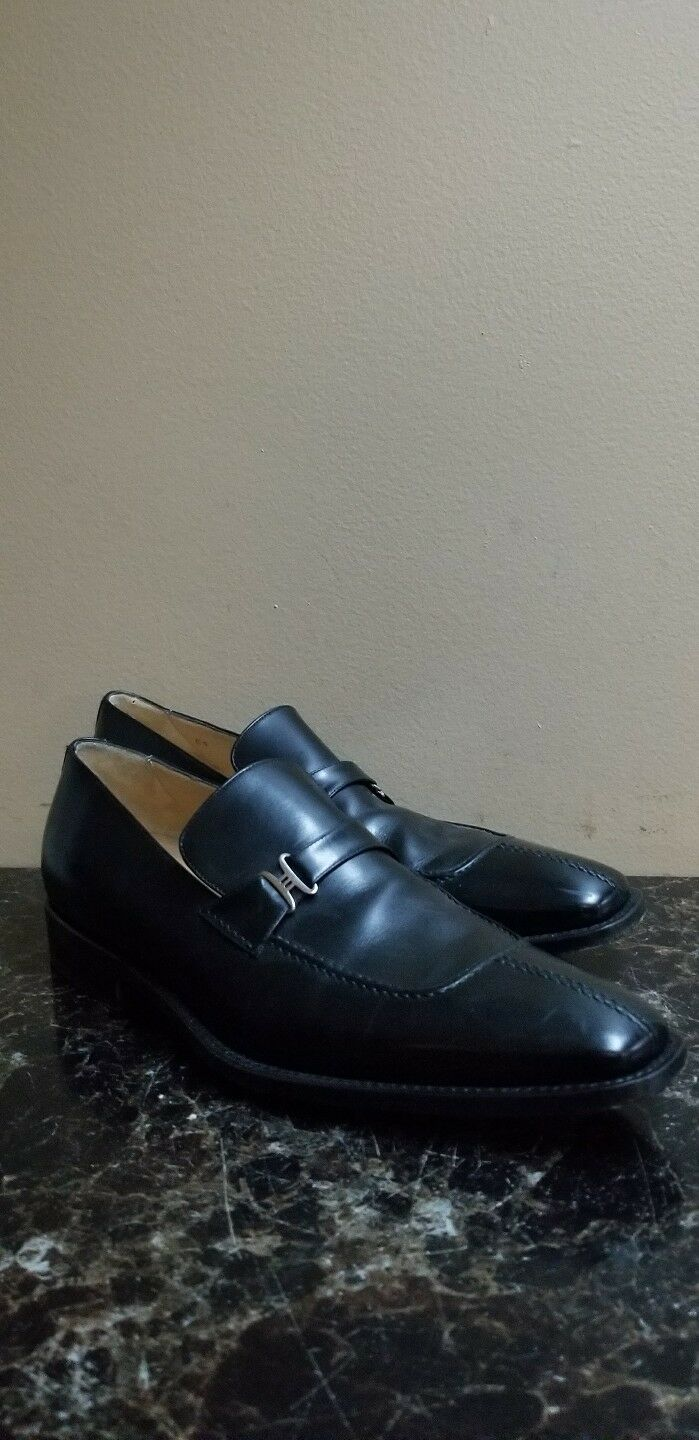 Cole Haan Italian Collection Black Split Toe Loafers shoes 10 M RT  495