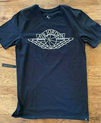 Activewear Jordan Men's Wings Logo Black Cotton Tee T-shirt S M Xl 2xl