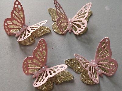 50x 3D paper butterflies Wedding Birthday Hen  Party table decorations Handmade