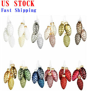 36-Pcs-Pine-Cone-Glass-Ornaments-in-Mixed-For-Christmas-Tree-Pendant-Decoration