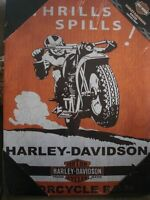 Harley Davidson Motorcycle H-D Racer Canvas Collection Print - New