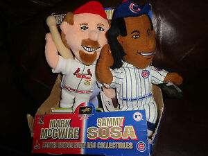 11-034-Mark-McGwire-Sammy-Sosa-Plush-Stuffed-Bean-Bag-Collectibles-w-Tags-Baseball