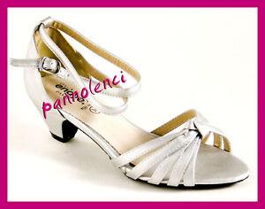 Dettagli su Scarpe da ballo danza donna 35 ARGENTO listini 305 111