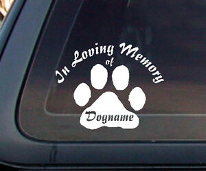In Loving Memory Car Decals >> Details About Custom In Loving Memory Cat Dog Pet Car Decal Sticker White