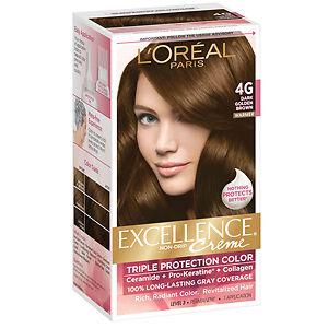 Loreal Excellence Creme 4g Dark Golden Brown Warmer Hair Color Dye ...