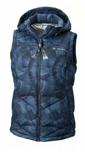 Columbia Women/'s Backcountry Blizzard Omni Heat Hooded Puffer Vest XS M