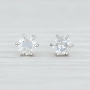 0-43ctw-Diamond-Stud-Earrings-14k-White-Gold-Round-Solitaire-Pierced-Screw-Back