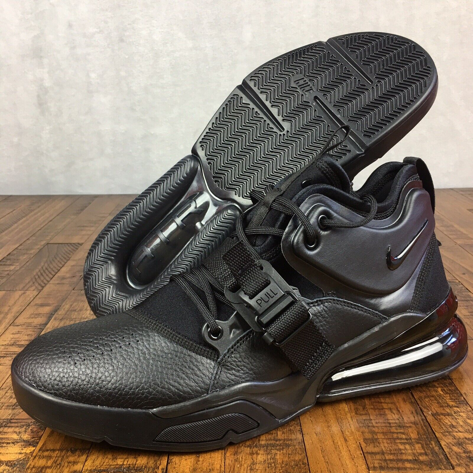 Nike Air Force 270 shoes Sneakers Triple Lifestyle Black AH6772-010 Mens Size 12