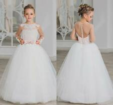 e639f6667830 Hot 2019 Flower Girl Dress Lace Beaded Party First Communion Dresses  Pageant Gow