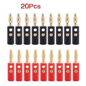 20X-4mm-Bananenstecker-Banane-Lautsprecher-Stecker-Rot-GY