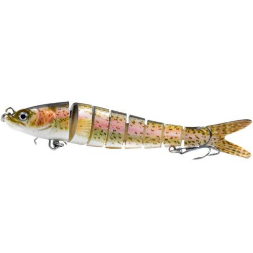 14cm 8 Segment Fishing Swimbait Lures Multi Jointed 2 Hook Hard Bait Crankbait