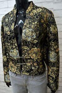 Chimono-Giacca-Donna-Taglia-46-Cappotto-Blazer-Floreale-Jacket-Women-Vintage