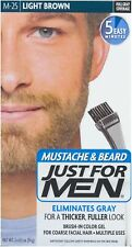 JUST FOR MEN Brush-In Color Gel, Mustache - Beard M-25 Light Brown 1 Each