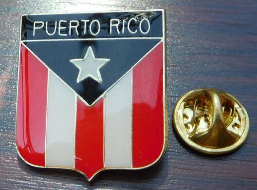 Puerto Rico Country Flag Shield Lapel Hat Tie Cap PIn Badge Crest Brooch