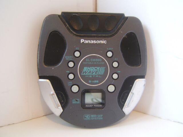 Panasonic Shockwave Metal SL-SW890 Portable CD Player Tested Works