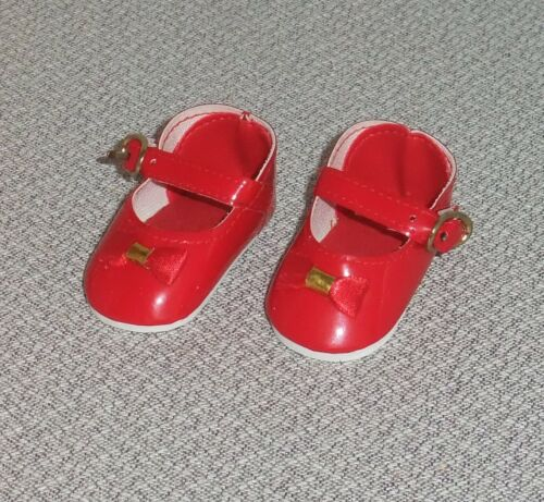 2 pair of Red Patent Maryjanes DOLL SHOES for Sasha Dolls