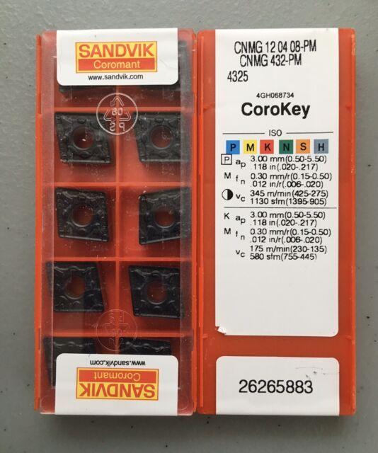 10PCS CNMG120404-PM Grade 4325 CNMG431-PM Carbide inserts lathe tool
