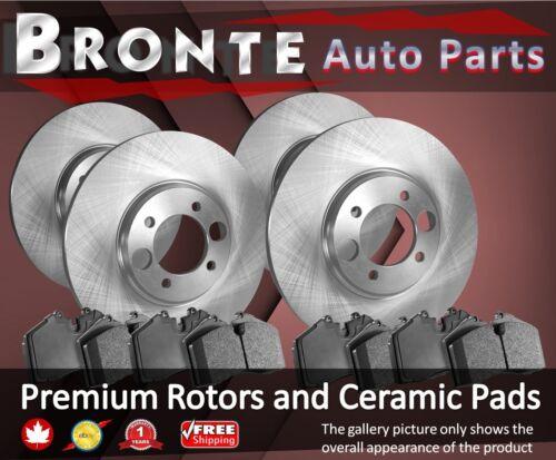 2007 2008 2009 for Cadillac SRX Disc Brake Rotors and Ceramic Pads F+R
