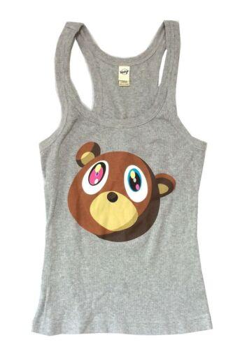 Kanye West Bear Graduation Girls Juniors Grey Tank Top Shirt New Official