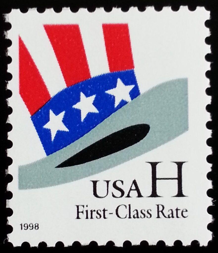 "1998 33c Hat ""H"" Rate Scott 3260 Mint F/VF NH"