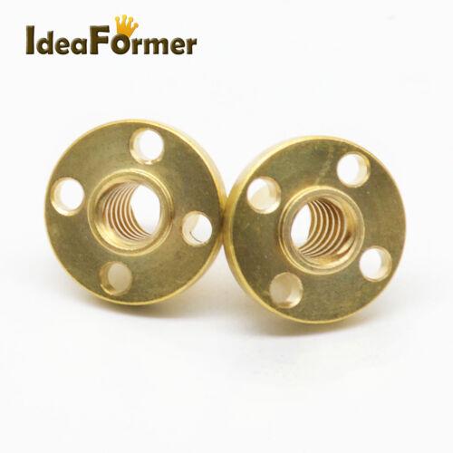 5 Pcs T8 Brass Nut Lead 8mm for Acme Rod Trapezoidal Leadscrew  CNC 3D Printer