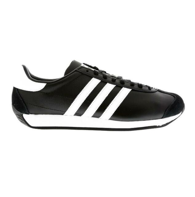 ee033f947 Mens Original adidas Country OG Black White Leather Trainers S81861 ...