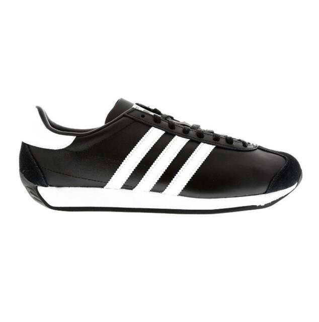 classic fit c31dd cfbec Mens ADIDAS COUNTRY OG Black Leather Trainers S81861
