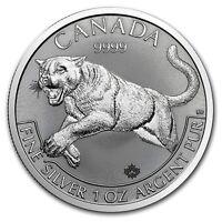 2016 Canada 1 Oz Silver Predator Series Cougar $5 Coin