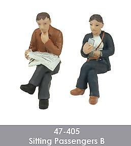 Scenecraft-47-405-Sitting-Passengers-Figures-Pack-B-2PK-O-Gauge