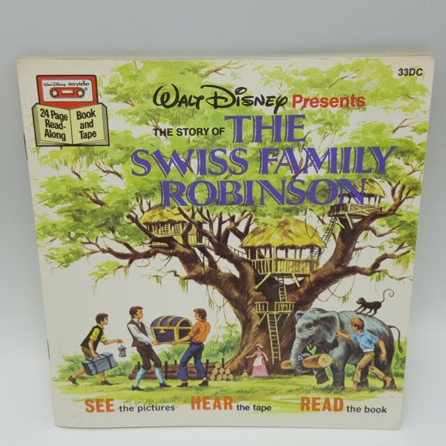Swiss Family Robinson Sound Story Cassette Paperback Book Read Along 33DC