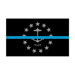 Rhode-Island-RI-State-Flag-Thin-Blue-Line-Police-Sticker-Decal-277-USA-Made