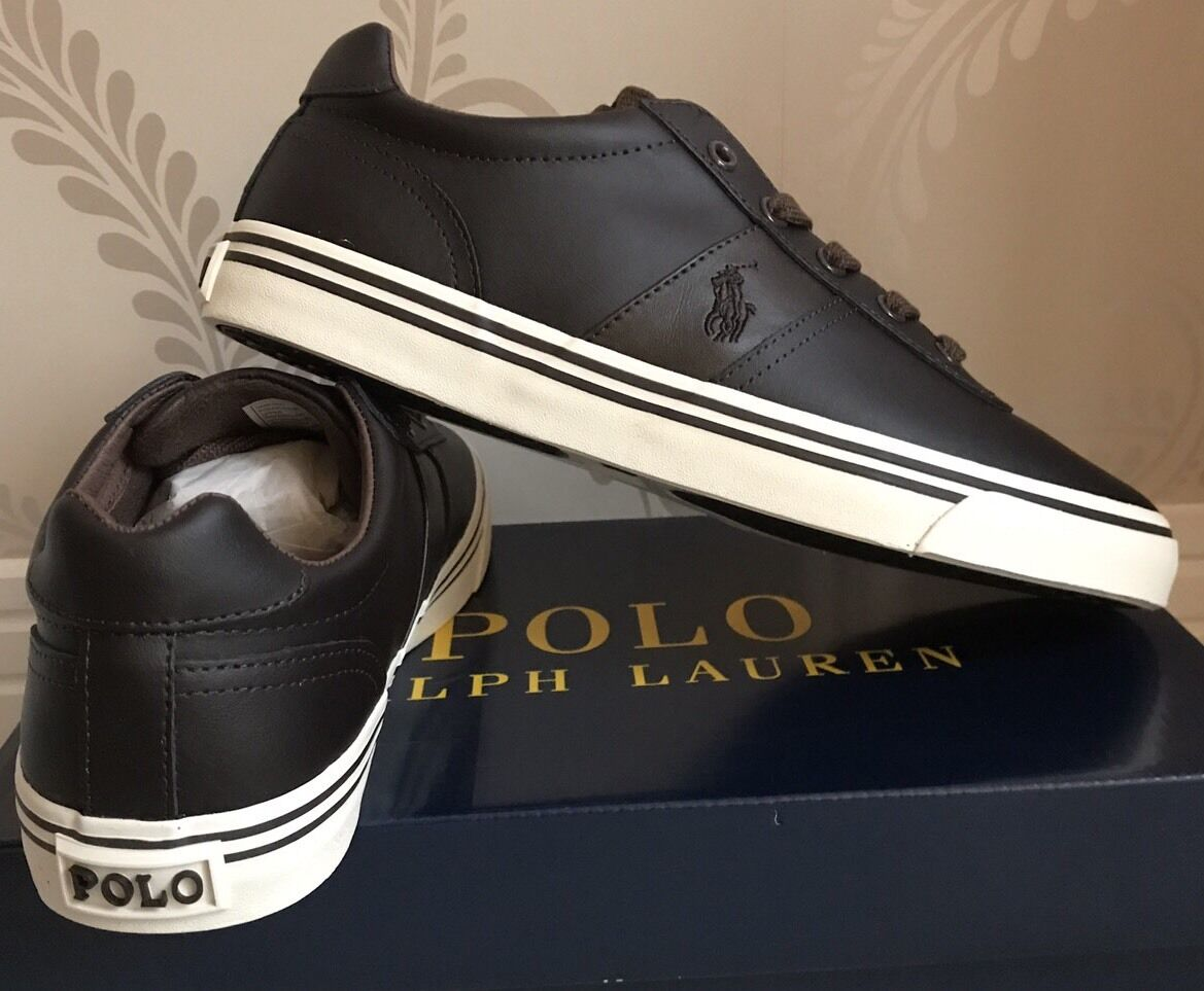 BNIB Hombre POLO RALPH LAUREN 8 HANFORD LEATHER Zapatos/TRAINERS/SNEAKERS Talla 8 LAUREN Marrón 349fa6