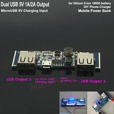 5V 2A Dual USB Lithium Li-ion 18650 3.7V Battery Charger Module DIY Power Bank