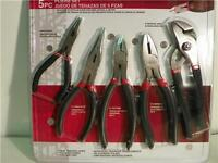 5 Pc Pliers Set By Iwork Olympia Tools Free Shipping