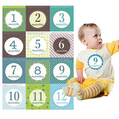 Cartoon infant tie shower party unisex baby monthly stickers newborn photo props