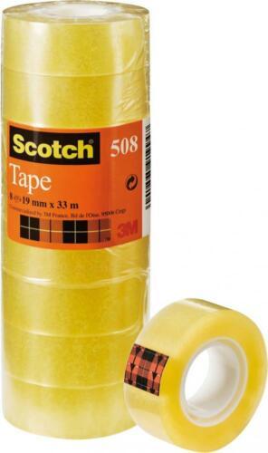 ... 8 Rollos Scotch Cinta de utilidad de oficina de propósito general 5081933-Transparentes