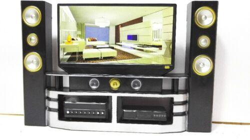 1 PC Mini Hi-Fi TV Gabinete de cine en Casa Conjunto Combo Para Mini Muñeca Niños Regalo