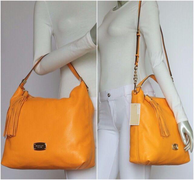 29ea7376f48b Michael Kors Bedford L Leather TZ Shoulder Bag Vint Yellow35s5gbfl3l ...