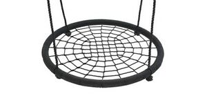 Nest-Swing-100cm-Spider-Web-Kids-Special-Needs-Cubby-House-Play-Equipment-BLACK