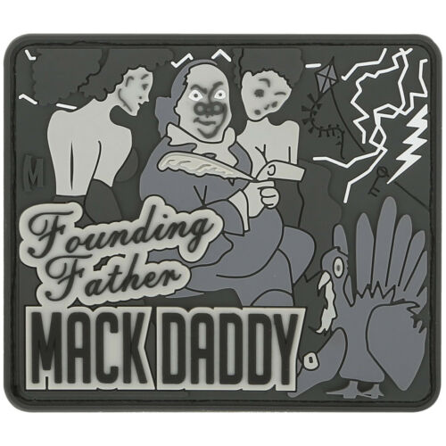 Maxpedition Ben Franklin Mack Badge Funny Rubber Morale Patch SWAT Grey