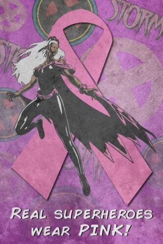 Pink Poster X-Men Storm 8X12 Breast Cancer Awareness Print