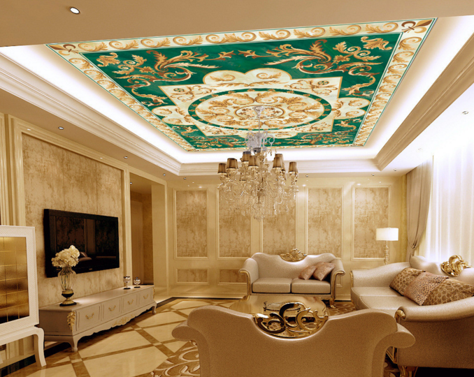 3D Curl Pattern 6 Ceiling WallPaper Murals Wall Print Decal Deco AJ WALLPAPER UK