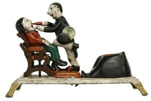 Money-banks-Piggy-banks-mechanical-antique-vintage-cast-iron-bank-Dentist